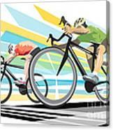 Cycling Sprint Poster Print Finish Line Canvas Print
