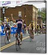 Cycling Stage Win Canvas Print