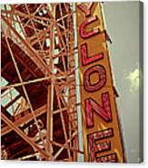 Cyclone Roller Coaster - Coney Island Canvas Print