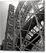 Cyclone Rollercoaster - Coney Island Canvas Print