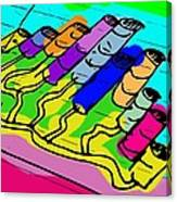 Cylinder Divergence Canvas Print