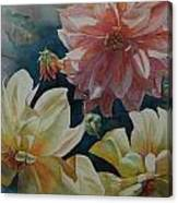 Cynthia's Dahlias Canvas Print