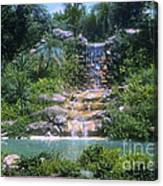 Cypress Garden Waterfalls Canvas Print