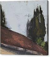 Cypress Tree And Roof Top Canvas Print