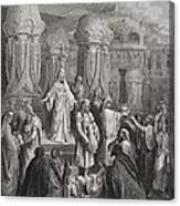 Cyrus Restoring The Vessels Of The Temple Canvas Print