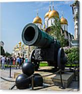 Czar Cannon Of Moscow Kremlin - Featured 3 Canvas Print