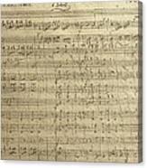 Czech Republic Prague Symphony No. 38 In D Major Called Prague Symphony Canvas Print