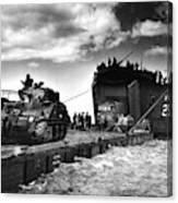 D-day Landings Harbour Canvas Print