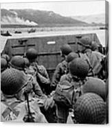 D-day Soldiers In A Higgins Boat  Canvas Print