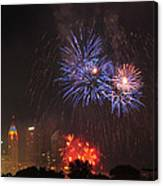 D21l163 Red White And Boom Photo Canvas Print