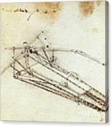 Da Vinci Flying Machine 1485 Canvas Print