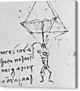 Da Vinci's Parachute Canvas Print