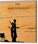 Dad Happy Father's Day Canvas Print