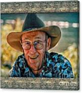 Dad In Cowboy Mood Canvas Print