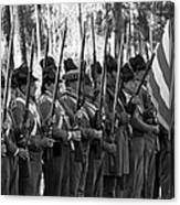 American Soldiers At Muster 1835 Canvas Print