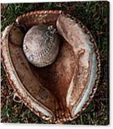 Dad's Old Ball And Glove Canvas Print