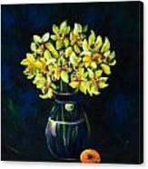 Daffodils And Fruit Canvas Print