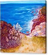 Daffodils At The Beach Canvas Print