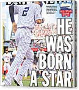 Daily News Back Page Derek Jeter Canvas Print