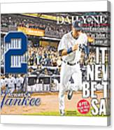 Daily News Front Page Wrap Derek Jeter Canvas Print