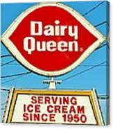 Dairy Queen Sign Canvas Print