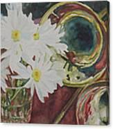 Daisies Bold As Brass Canvas Print