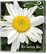 #daisy #doodle #helovesme #flower Canvas Print