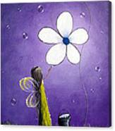 Daisy Fairy By Shawna Erback Canvas Print