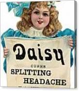 Daisy Headache Cure Canvas Print