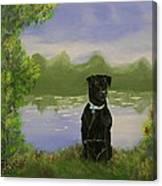 Daisy The Black Lab Canvas Print
