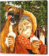 Daisy's Mocha Latte Canvas Print