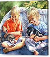 Dakotas Puppies Canvas Print