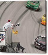 Dale Earnhardt Wins Daytona 500-checkered Flag Canvas Print