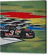 Dale Earnhardt Wins Daytona 500-infield Doughnuts Canvas Print