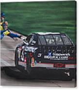 Dale Earnhardt Wins Daytona 500-pit Road Hand Shake Canvas Print