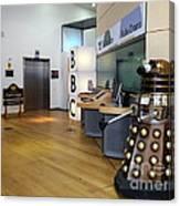 Dalek At The Bbc Canvas Print