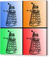 Dalek Pop Art Canvas Print