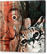 Dali And His Cat Canvas Print