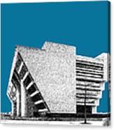 Dallas Skyline City Hall - Steel Canvas Print