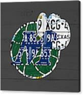 Dallas Mavericks Basketball Team Retro Logo Vintage Recycled Texas License Plate Art Canvas Print