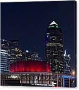 Dallas Skyline Arts District At Night Canvas Print
