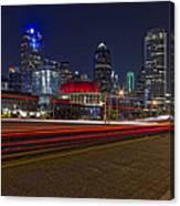 Dallas Skyline At Night Canvas Print