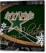 Dallas Stars Christmas Canvas Print