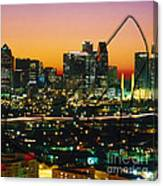 Dallas Texas Skyline In A High Heel Pump Canvas Print