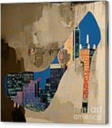 Dallas Texas Skyline In A Shoe. Canvas Print