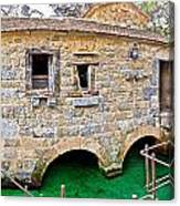 Dalmatian Village Traditional Stone Watermill Canvas Print