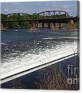 Dam And Rail Runs Canvas Print