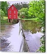 Dam At Starrs Mill Canvas Print