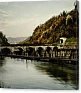 Dam On Adda River Canvas Print