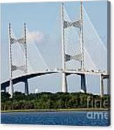 Dames Point Bridge Jacksonville Florida Canvas Print